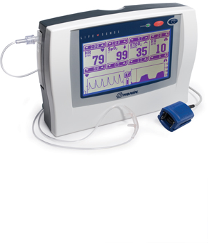 Lifesense ETCO2 monitor and SPO2