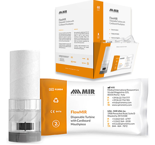 MR910004 - FlowMir - Disposable Turbine with mouthpiece