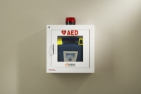 CS50-00392-30 - Wall mount storage case with alarm/security and strobe for Powerheart AED G3
